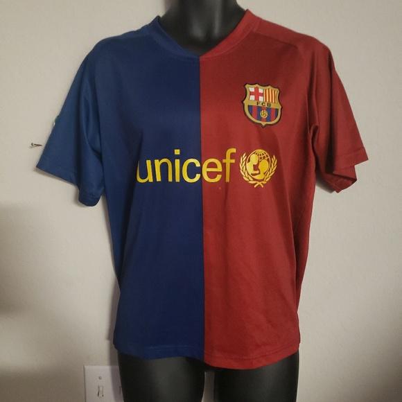 newest 955b5 faebf FC Barcelona Lionel Messi Soccer Futbol Jersey L